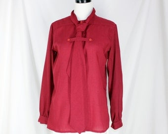 Vintage Blouse Givenchy for Chesa Maroon Shirt