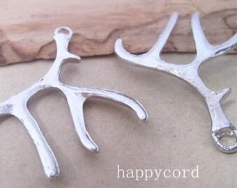 15pcs white K deer antlers charm 40mmx52mm