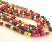 "Multi Colored Magnesite 6mm Round Beads - 16"" Strand"