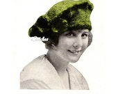 1919 Tam Hat Beret Cap from Edwarian Era  - Knit pattern PDF 1919