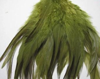 Rooster Saddle Hackle - Dark Olive