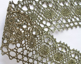 """Antique Gold Lace Trim  2 1/4"""" x 3 yards - Very pretty Lace"""