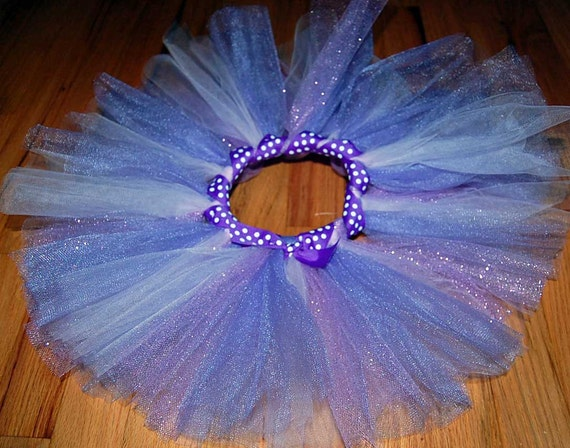 Child's Tutu - Purples with wrapped ribbon waist