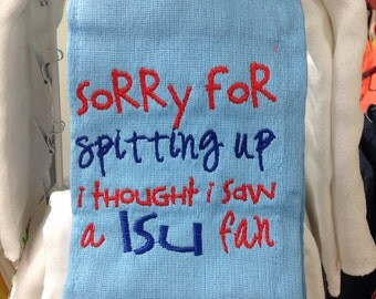 Sorry for spitting up I thought I saw a LSU fan... In Ole Miss colors. Custom orders available.