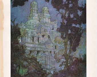 Edmund Dulac Illustration from The Rubaiyat of Omar Khayyam.....beautiful castle....
