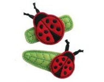 Lady Bug...  Lady Bug.... Fly Away.......     3-D Felt Hair Clip     Listing is for 1 clip