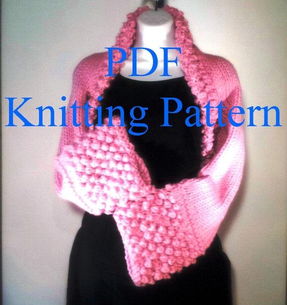 Shrug Knitting Patterns For Beginners : Easy Boho Shrug PDF KNITTING PATTERN . Incl plus sizes up to