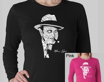 Women's Long Sleeve T-Shirt - Al Capone created out of the words - Original Gangster