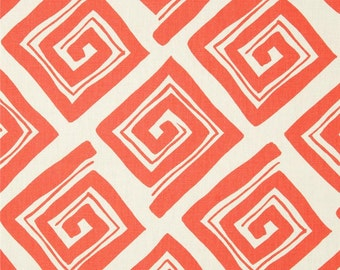 2 Pillow Covers 18x18 inch-Free US Shipping - Maze in Coral and White