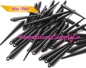 25pc Large MATTE Black Spikes. Rare Color. These measure 52mm. Fast Shipping from USA w/ Tracking for Domestic Buyers.