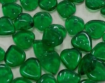 Czech Glass Leaf Beads CZL2