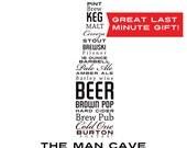 DIGITAL DOWNLOAD! The Man Cave Beer Lover Digital Art File