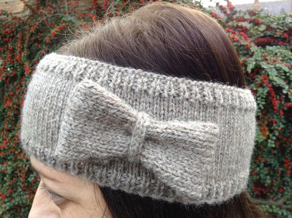 Knitted Hair Band Patterns : Head Band knitting pattern by louiseshandknits on Etsy
