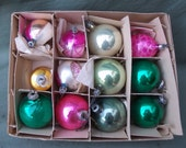 Antique Christmas Ornaments, Box of 12 early 1900's Poland & German Ornaments - Pikepicks