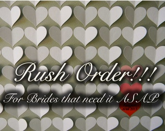 RUSH ORDER, For brides that need their Guestbook ASAP