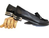 Reserved KARL LAGERFELD 90s Vintage Loafers Shoes/Metal Plated Heels