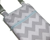 Grey chevron two tone cross body purse sling bag adjustable strap shoulder vacation travel wallet hobo hipster shopping kindle
