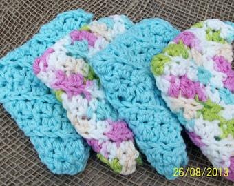 Washcloths Cotton - Gift Set graduation, engagement, birthdays.  Womens/Mens/Unisex Eco-friendly washcloths. Bath Gift Set