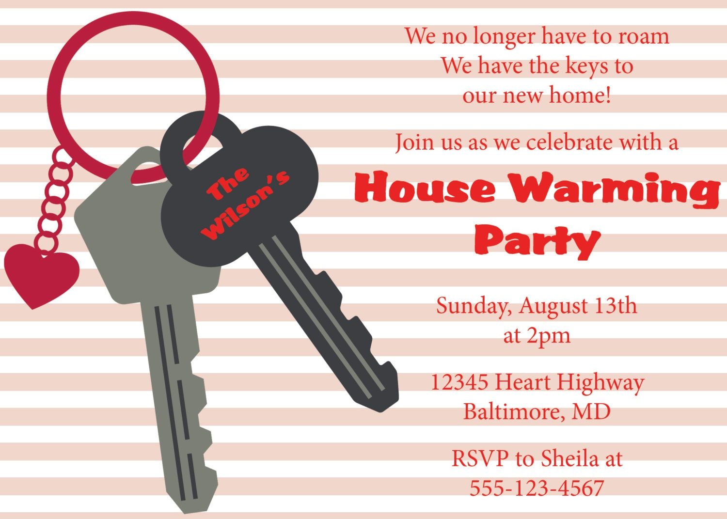 House Warming Party House Warming Invitation House Invite Diy