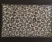 "Dollhouse Miniature Animal Print Rug ""Exotic Black Cat Cheetah"", Scale One Inch"
