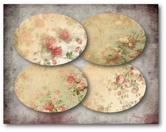 Digital Collage Sheet Download - Floral Labels -  397  - Digital Paper - Instant Download Printables