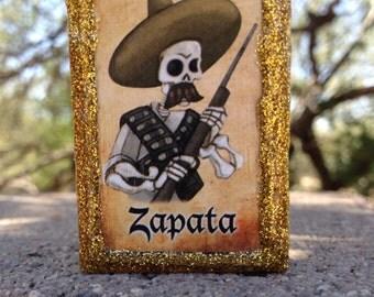 Loteria Day of the Dead Matchbox, Zapata and El Bigoton