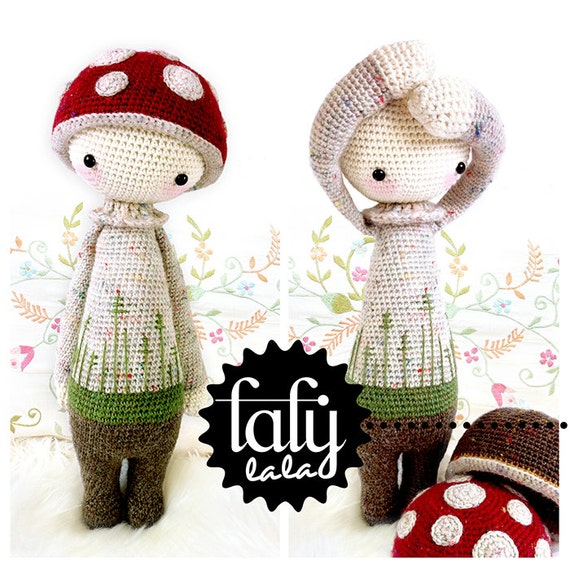 PAUL the toadstool - lalylala amigurumi crochet PATTERN - ebook