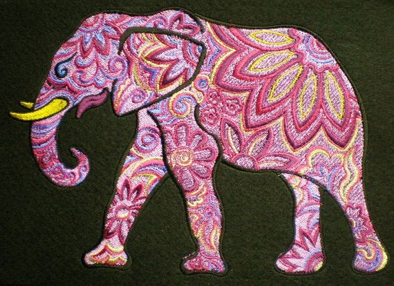 Huge Embroidered Color...