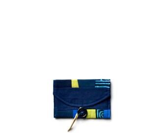 Modern Card Case, Navy Blue Card Case, Business Card Case, Fiber Art Wallet, Cobalt Blue