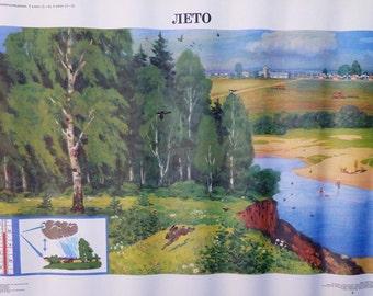 Vintage School Poster Seasons - Summer