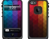 Lifeproof iPhone 6 Fre, LifeProof iPhone 5 5S 5C Fre Nuud, Lifeproof iPhone 4 4S Fre Case Decal Skin Cover - Color Spectrum