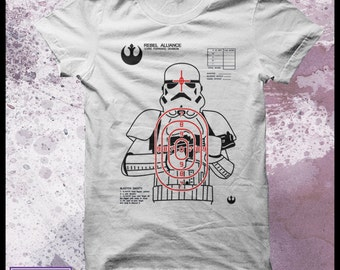 Stormtrooper shooting target t-shirt - mens star wars t-shirt