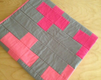 "Modern ""Pia"" Baby Quilt or Throw"