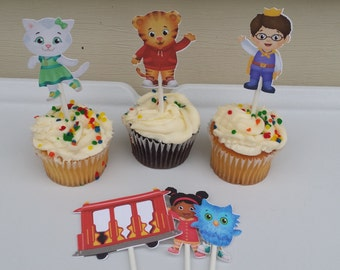12 tiger  cupcake toppers