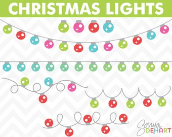 80% OFF Sale Christmas Clipart, Clipart Lights, Holiday Clipart, Clipart Christmas, Lights Clipart, Christmas Clip Art, Clip Art Lights