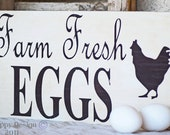 Farm Fresh EGGS Sign - Rustic - Country Kitchen