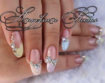 Pastel Easter Artificial Nail Art