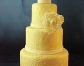 Fondant Faux 4-tier Wedding Cake
