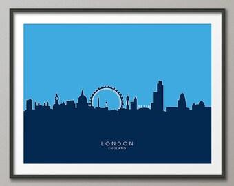 London Skyline, London Cityscape England, Art Print (622)