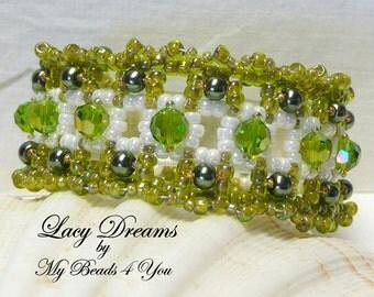Beadwork Bracelet, Beaded Bracelet, Seed Bead Bracelet, Embellished Bracelet, Beadwoven Bracelet, Gift For Her, Cuff Bracelet,Tutorial