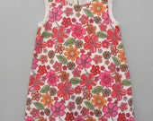 SALE  Girls Dress - Flower dress - lined - A line - Size 4 - gifts under 30