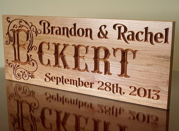 Engagement date sign year anniversary gift parents