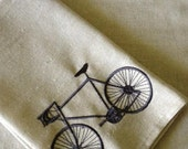 Embroidered Bicycle Hand Towel Set
