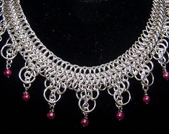 Lace Mail Collar Necklace - Chainmaille