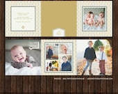 INSTANT DownloadChristmas / Holiday PSD 5x5 Accordion Card Template 5x5 - A6