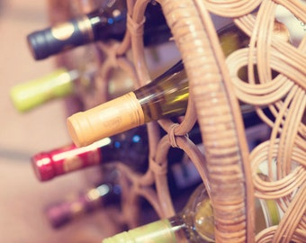 Food Photography - Kitchen Art - Wine - Vineyard Photography - Dining Room Decor - Fine Art Photography Prints - Neutral Brown Home Decor