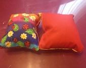 "Rainbow Ladybug 5""x5"" catnip toy"