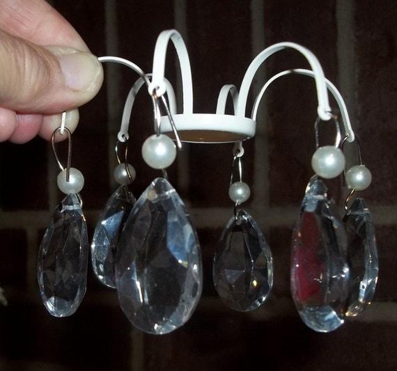 Paar kerzen kronleuchter dekoration glas crystal von dondilights