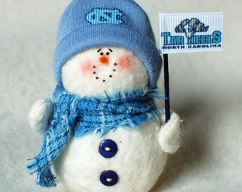 North Carolina Tar Heels Snowman Ornament
