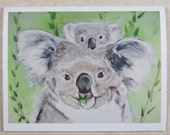 Koala Bear and Cub Mother's Day Card with Envelope